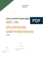 Guía de Administración Pública - ABC de situaciones administrativas - Versión 2