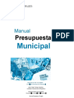 A. manual presupuestal-nivel municipal