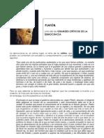 PLATÓN, crítica de la democracia