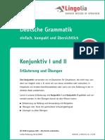 Deutsch Verben Konjunktiv De