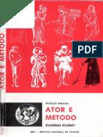 O Ator e o Método - Eugenio Kusnet