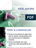Role of Excel and Spss