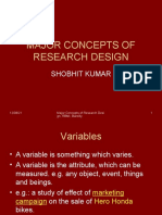 Concepts in Research Design