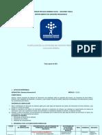 Planificación Actividades UPDS Tarija