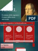 4. Hegel. Il sistema. Filosofia dello spirito oggettivo