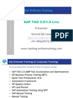 SAP TAO 2, SAP TAO 1,TAO,HPQTP,HP QTP,QTP,SAP,SAP Testing, Automation testing,HP BPT,BPT,HP Business Process Testing,HP QC, Quality Center,Manual Testing, SAP Manual Testing,Online Software Testing.
