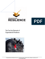 The Five Key Elements of Organisational Resilience
