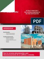 Siderperu Estructuracion y pre dimensionamiento de una edificacion
