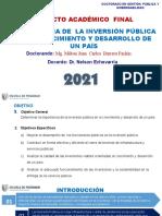 PPT_Producto académico final_ensayo sobre  la importancia de la inversión pública en el crecimiento y desarrollo de un país