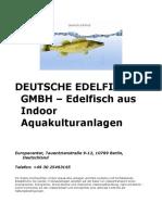 DEUTSCHE EDELFISCH GMBH – Edelfisch aus Indoor Aquakulturanlagen