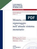 44245816 Moneta Credito e Signoraggio Nell Attuale Sistema Monetario