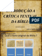 Crítica Textual da Bíblia
