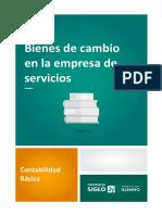 Bienes de cambios en la empresa de servicios
