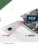Bosch Sms53m56ff Lave Vaisselle Notice
