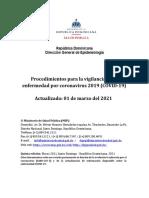 Procedimientos Vigilancia COVID-19 2021