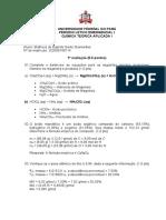 1 avaliação - Matheus E S Guimarães