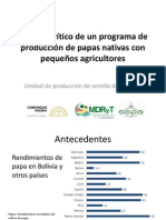 Análisis crítico de un programa de producción de papas nativas (en Bolivia) con pequeños agricultores (PowerPoint)