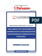 RESOLUCIÓN DE CONTRALORÍA N° 166-2021-CG