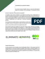 Lineamientos Día Hepatitis 2017