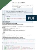 Liste des balises XHTML SDZ
