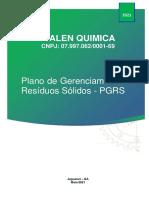 ANEXO H - Plano de Gerenciamento de Residuos Solidos - PGRS