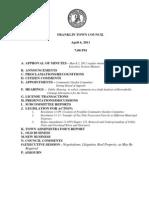 Franklin, MA - Town Council Agenda 4/06/11