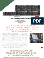 Innovación vs Sistemas de Información en Los Sistemas