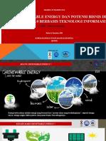 Renewable Energy dan potensi bisnis dibidang Energy pada industri 4.0