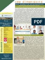 Shobhit University Newsletter Vol3 Issue 9