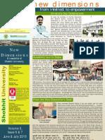 Shobhit University Newsletter Vol 3 Issue 6 & 7