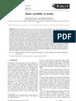 Climate Variability in Jordan