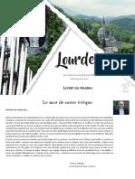 Livret Du Pelerin -  Lourdes 2021