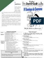 Folha Paroquial Vale S. Martinho (431) - 03 Abril 2011