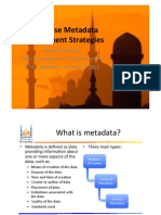 ETIS11 - Enterprise Metadata Management Strategies