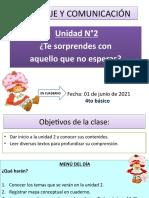 CLASE 01-06 4to LEGUAJE