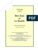 Otto Rank don Juan et le Double
