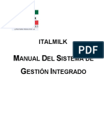 QHSE+22000-Manual del Sist. Integrado de Gestion ITALMILK