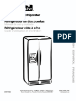 "Kenmore (Whirlpool) ""Coldspot"" Refrigerator Manual - Model 106.56249400"