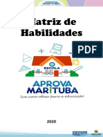 Matriz de Habilidades de Aprendizagem - Aprova Marituba - 2020 - LP