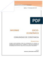 Informe comunidad CONSTANCIA