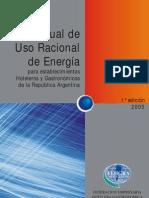 Manual de uso racional de la energía