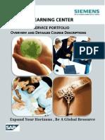 SAP Education Course Outline