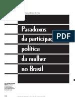 PINTO Celi Jardim Política da mulher no Brasil limites e perspectivas