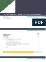 Analisis de La Zona Colonial de Santo Domingo