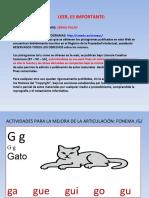 ACTIVIDADES MEJORA FONEMA G