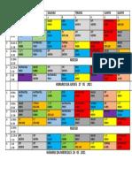 Horario Grupo 1 21 y 22 de Abril 2021