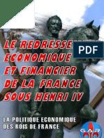 Le redressement économique et financier de la France sous Henri IV