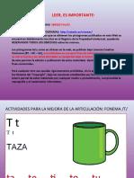 ACTIVIDADES MEJORA FONEMA T