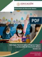 Estrategia nacional para el regreso seguro a las escuelas 2.0