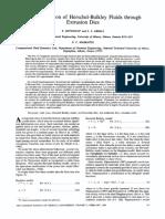 Flow Simulation of Herschel Bulkley Flui